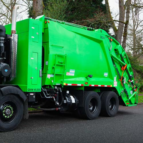 Answer GARBAGE TRUCK