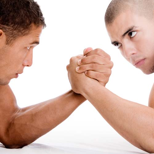 Answer ARM WRESTLING